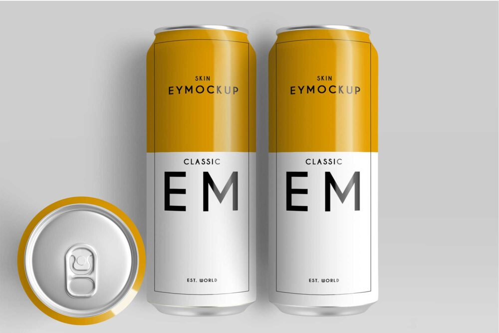 Beer Can Design Mockups