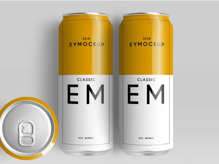 Big Beer Can Design Presentation Mockups