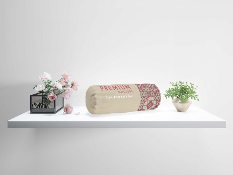 Bolster Pillow Label Mockup