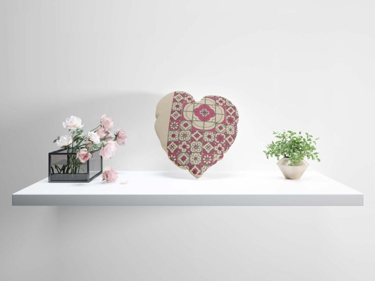 Heart Shape Pillow Mockup