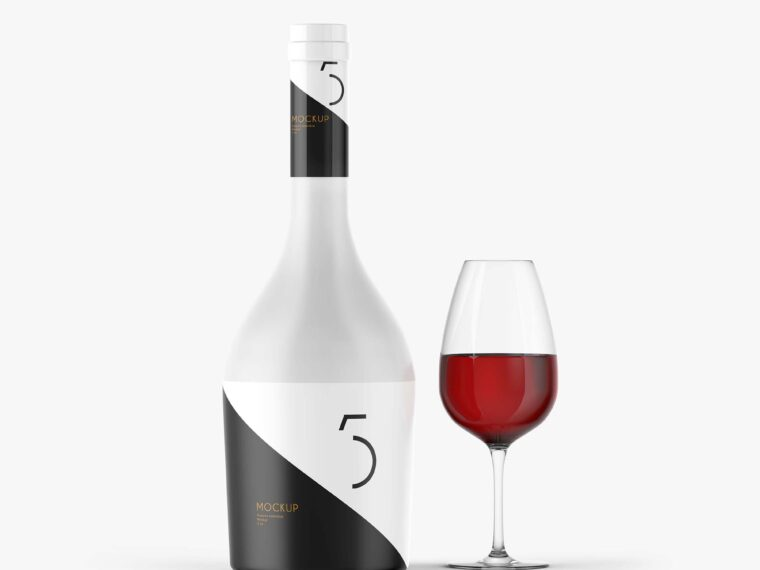 Luxurious Wine Bottle Mock-up