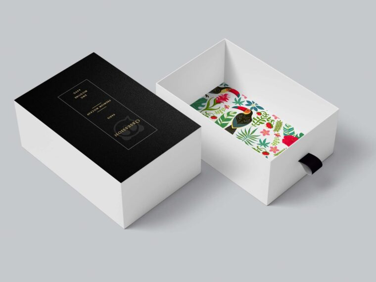 Premium PSD Download Shoe Box Opened Mockup