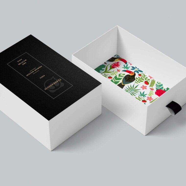 Shoe Box Opened Mockup