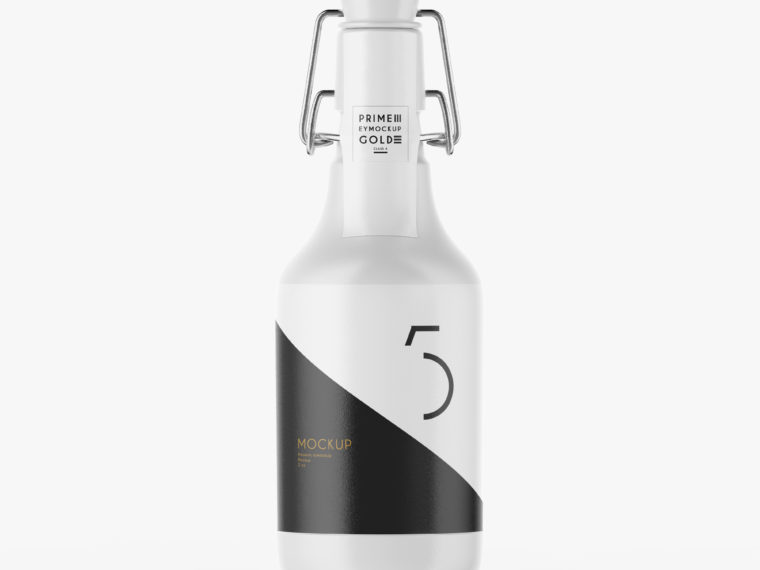 Premium Beer Shampoo Bottle Mockup