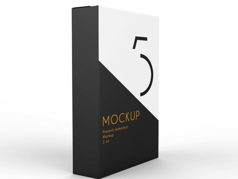 Premium Paper Packet Packaging Mockup
