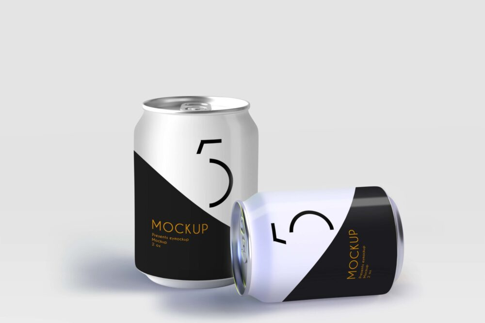 Juice Can Label Mockup