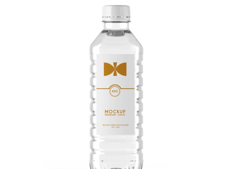 Premium Water Bottle Label Mockup