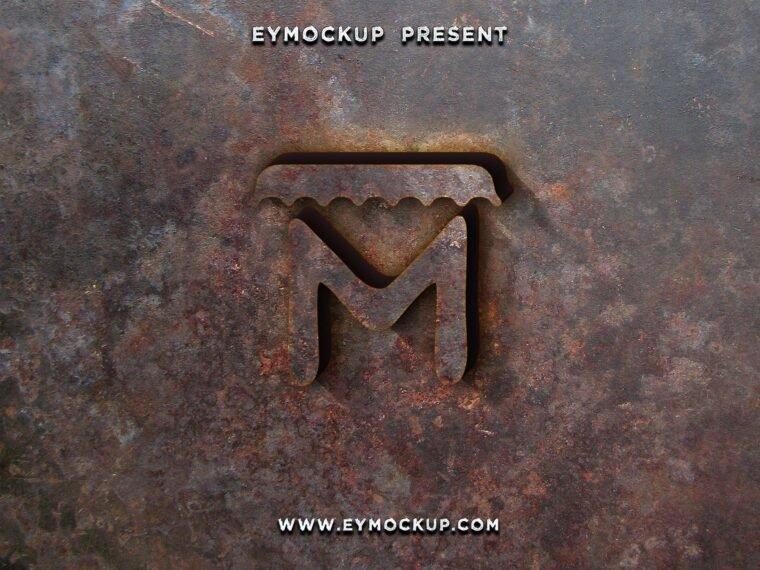 Rusting Effect Logo Mockup 2018