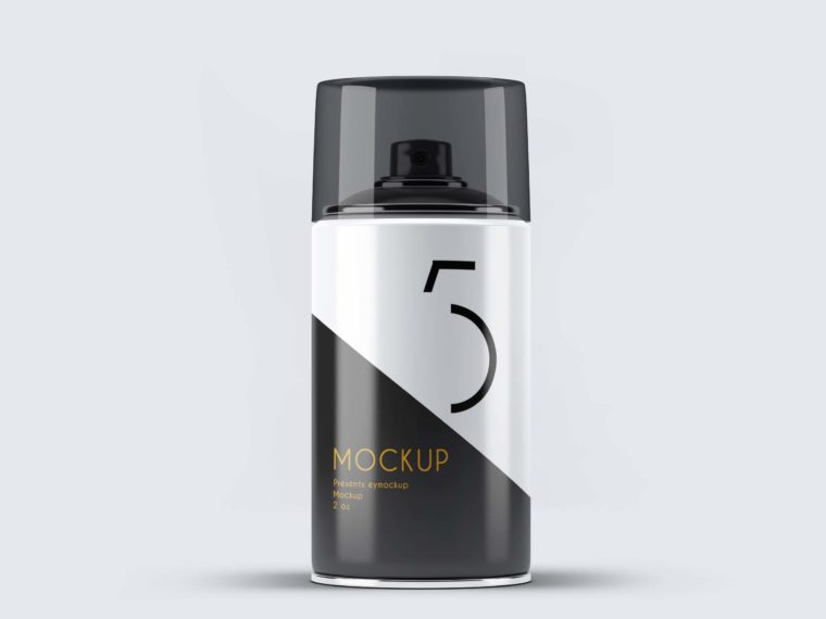 Small Bottle Spray Can Mock-up