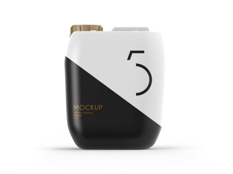 Vegetable Oil Can Mockup
