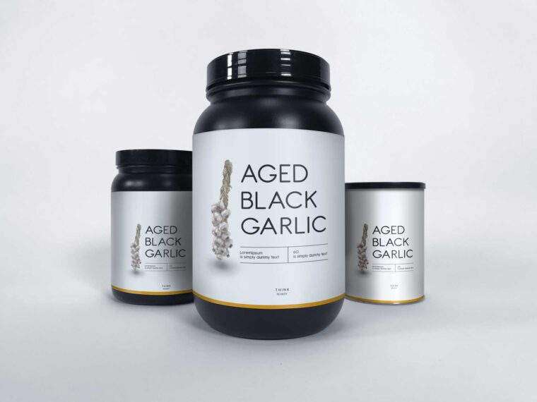 Beautiful Gym Supplement Bottles Mockup