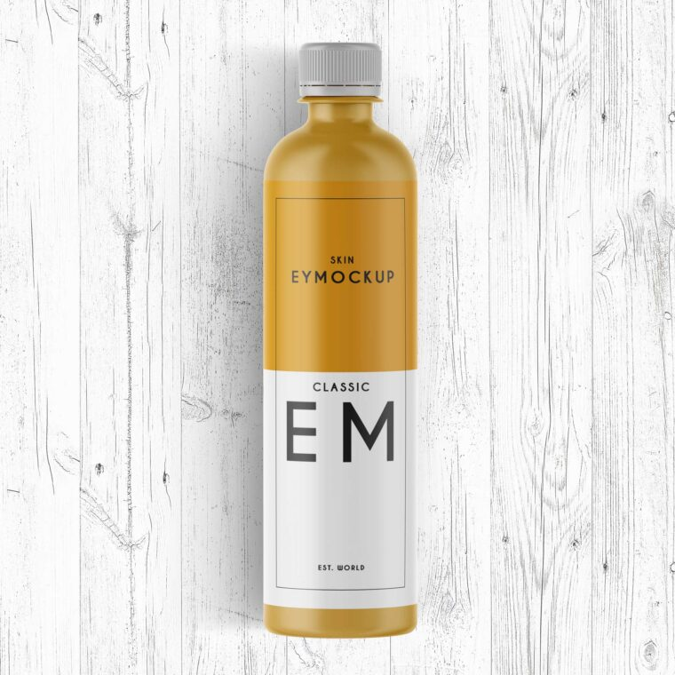 Premium Bottle Label Mockup