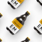 Nice Beer Bottle Label Mockup With Snacks