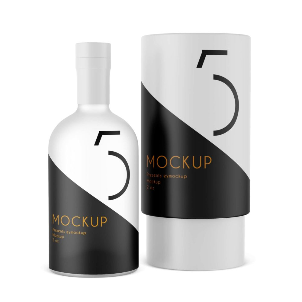 PSD Bottle Packaging Mockup