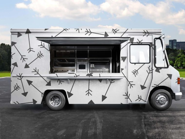 PSD Burger Food Truck Design Mockup