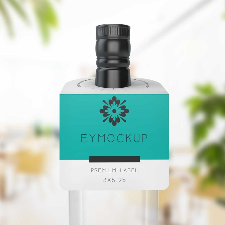 Bottle Neck Label Mockup