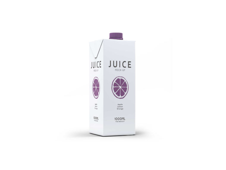 Real Juice Packaging Design Label Mockup Presentation