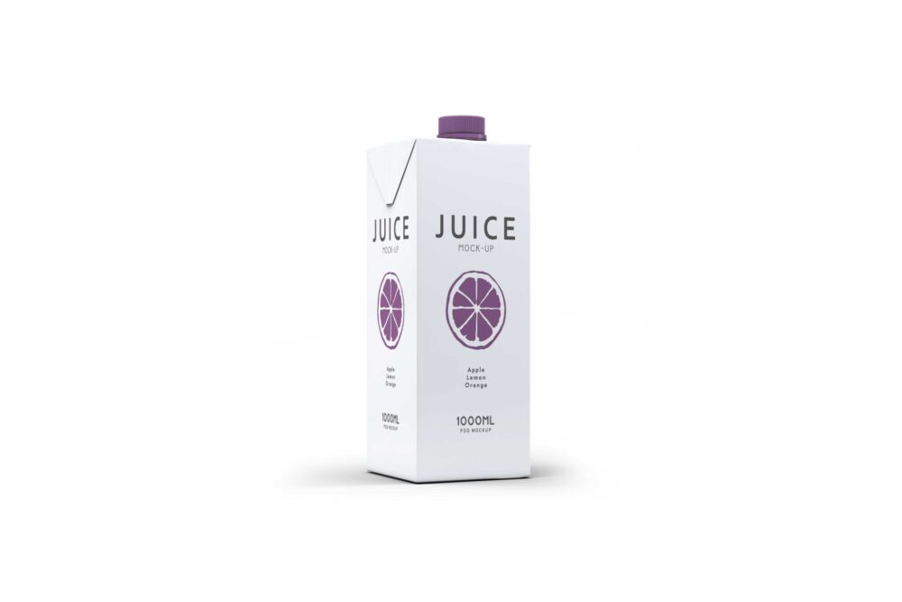 Juice Packaging Design Label Mockup Presentation