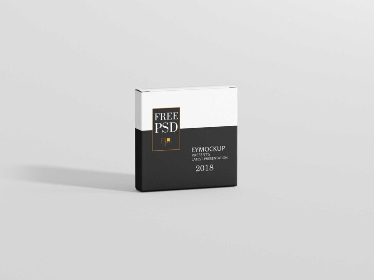 Software CD Box Packaging Mockup