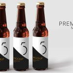 Three Beer Can Label Mockup