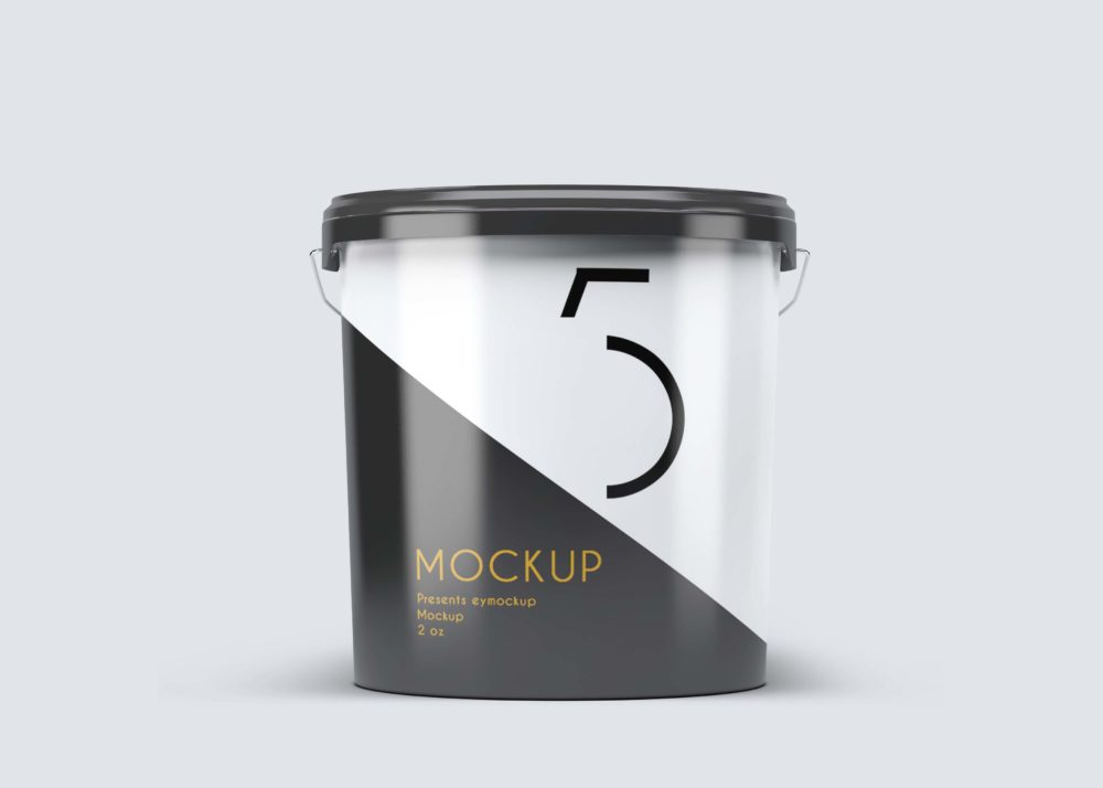 Paint Bucket Label Mockup