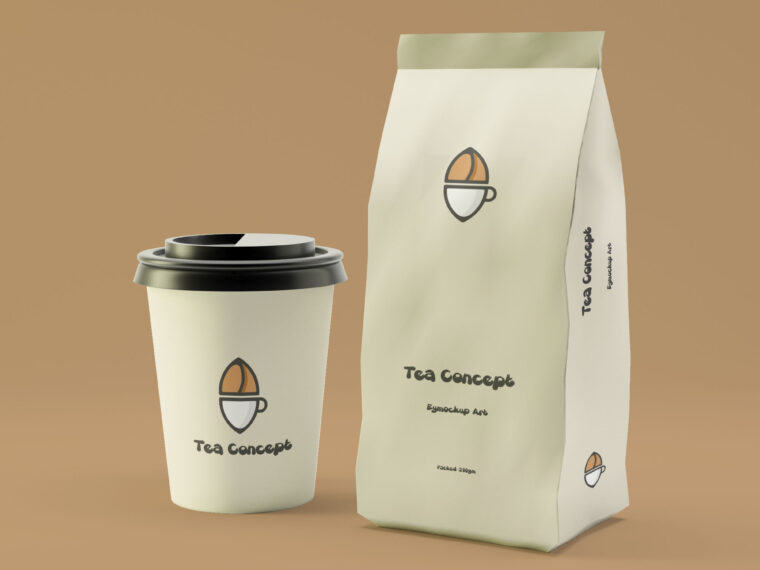 Coffee Cup Packaging Mockup