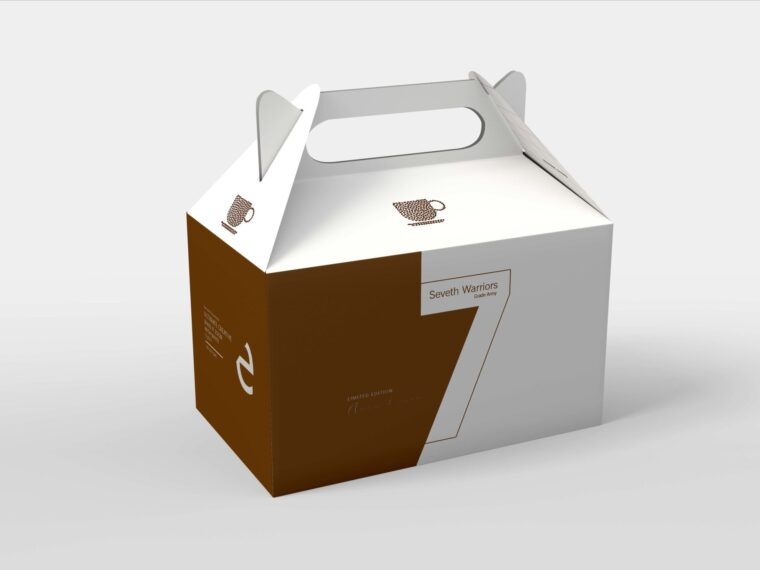 Hanging Box Packaging Mockup