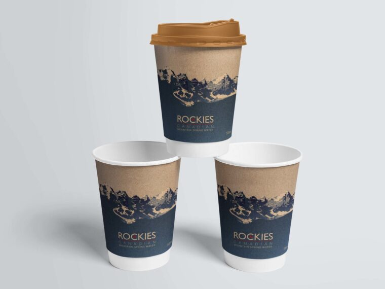 Modern Paper Coffee Glass Mockup