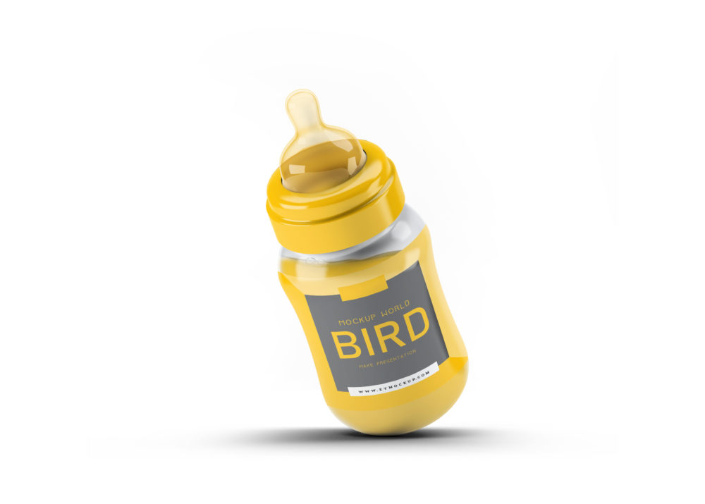 New Baby Bottle Label Mockup