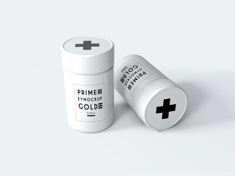 New Small Pills Packaging Mockup