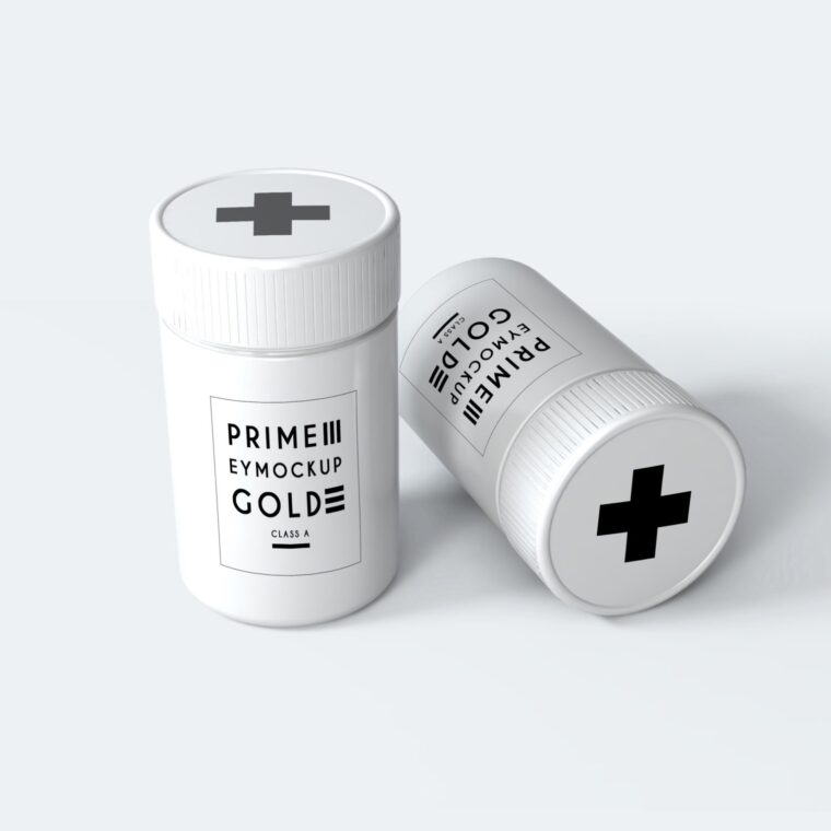 Pills Packaging Mockup