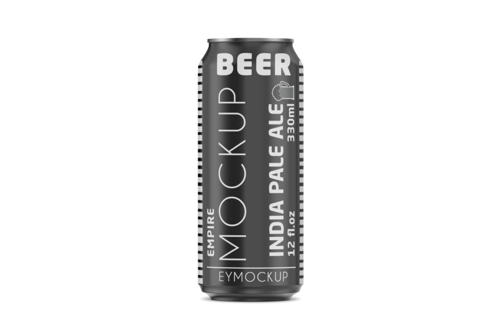 Metallic Can Label Mockup