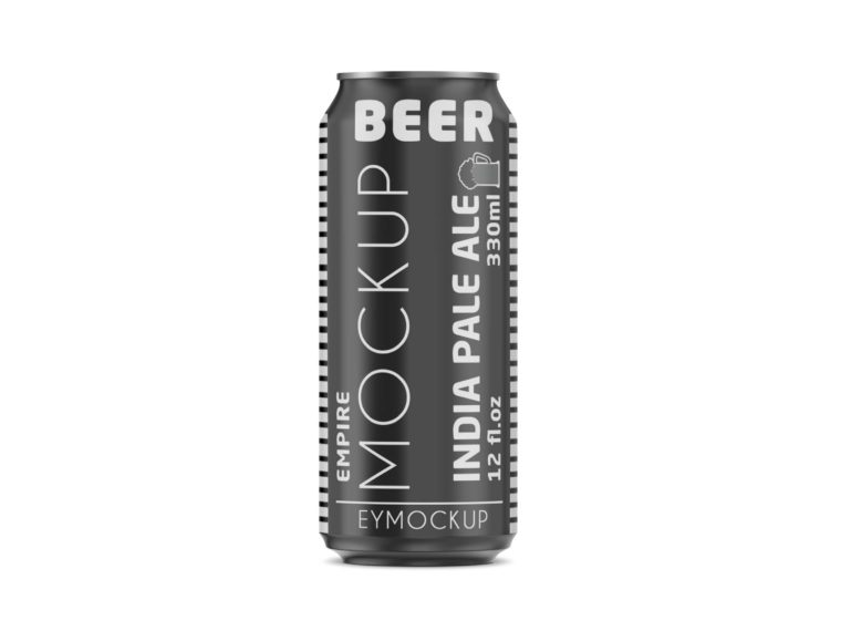Nice Premium Metallic Can Label Mockup