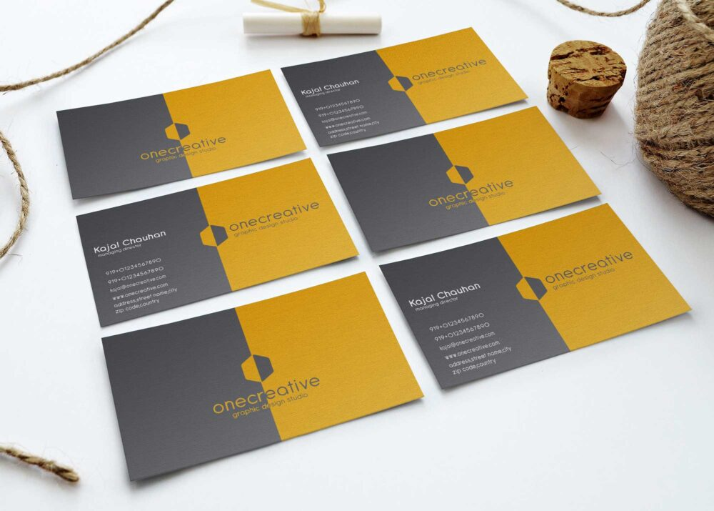 Premium Business Cards Presentation Mockups