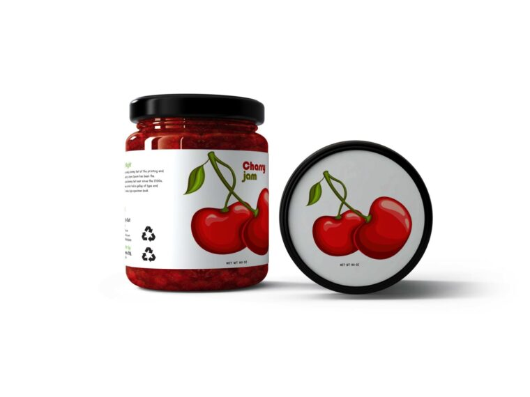 Premium Jelly Jar Mockup