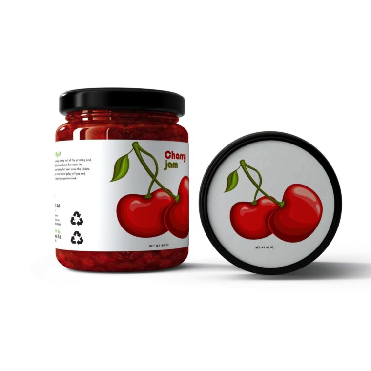 Jelly Jar Mockup