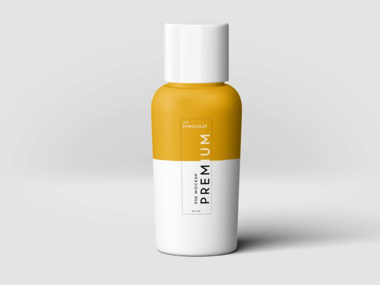 Hair Oil Bottle Label Mockup