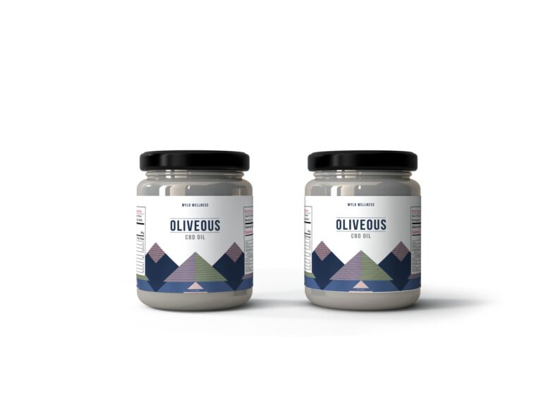 Kitchen Oil Packaging Jar Label Mockup