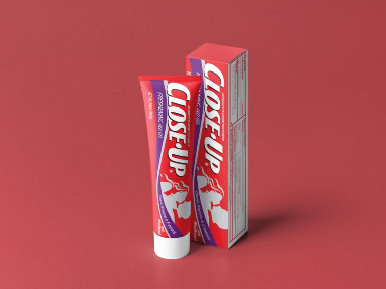 New Close-up Tooth Paste Packaging Mockup