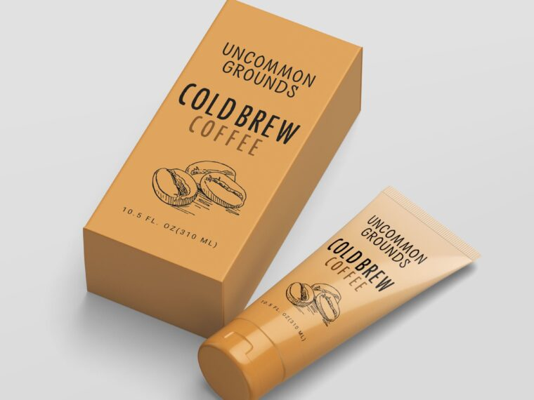 New Coffee Cream Packaging Mockup