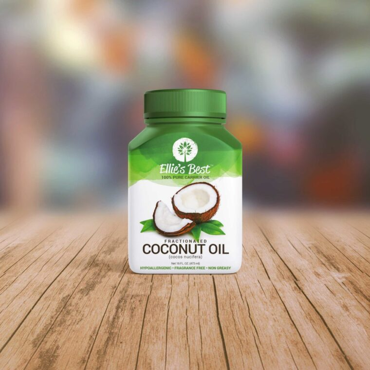 Coconut Oil Bottle Mockup