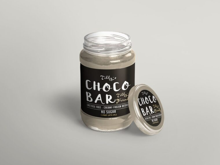 New Jam Jar Design Label Mockup