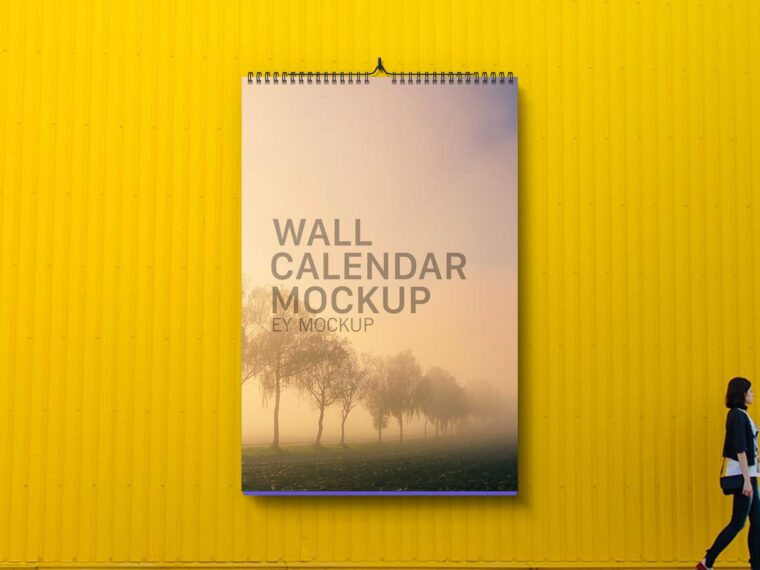 New Look Wall Calendar Mockup Presentation