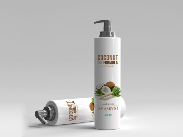 New Mosquito Spray Bottle Label Mockup