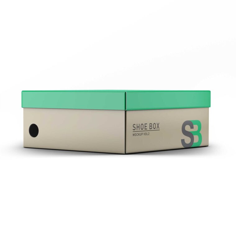 Shoes Box Label Packaging Mockup