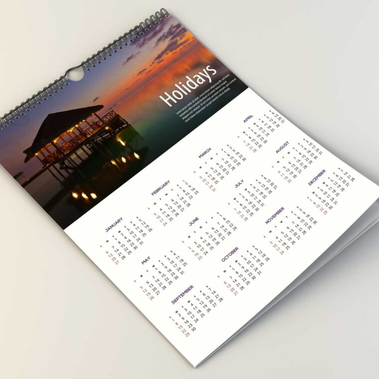 New Wall Calender Design Mockup