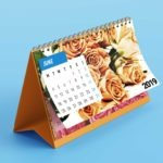 Office Desk Calendar Presentation Mockup