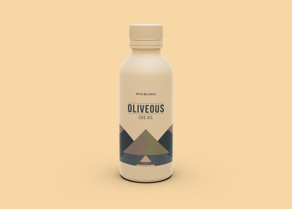 Oil Bottle Label Mockup