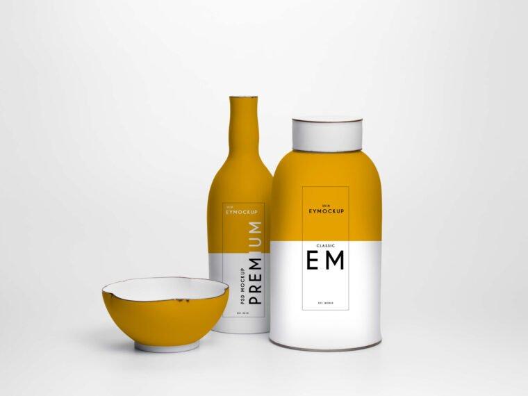 Premium Bottle Label Mockup