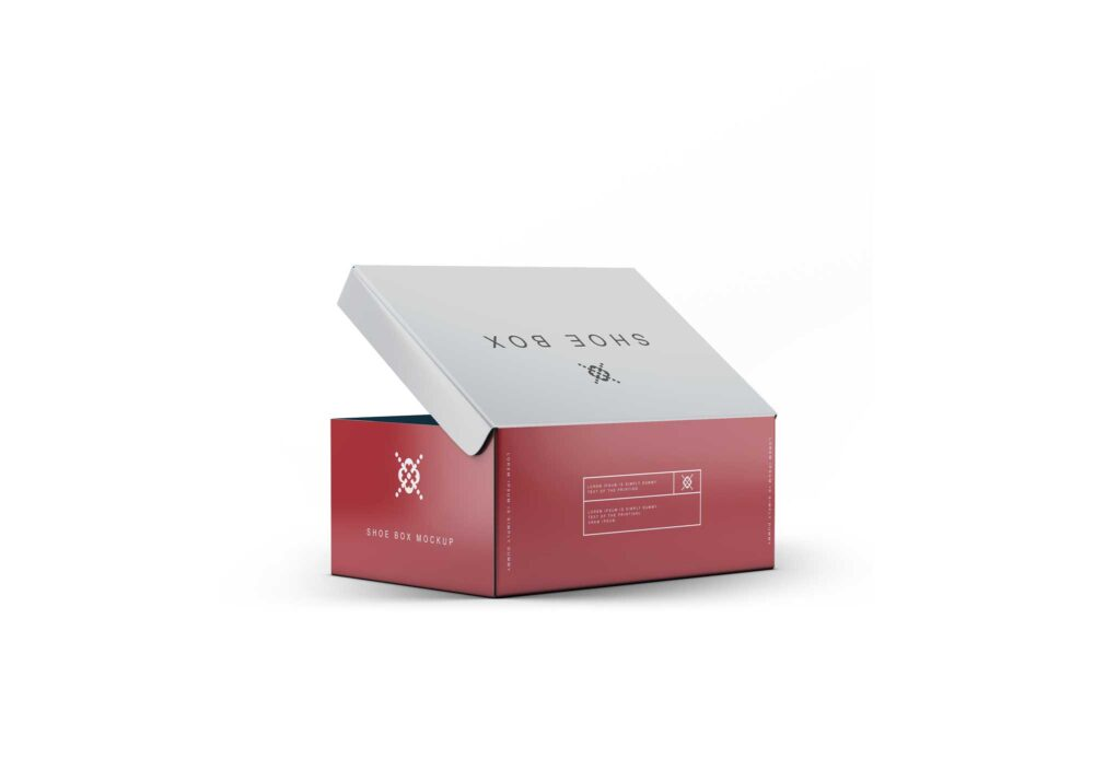 Shoes Box Packaging Mockup